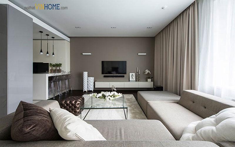 phong cách thiết kế nội thất hiện đại ở các chung cư