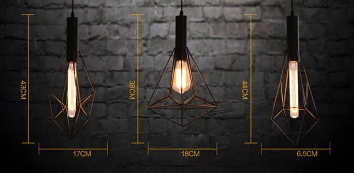 đèn thả Retro đèn trang trí độc đáo 10