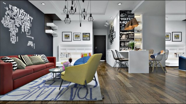 thiết kế nội thất Parkhill theo phong cách scandinavian