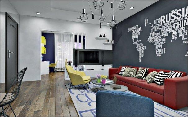 thiết kế nội thất chung cư ParkHill theo phong cách Scandinavian phòng khách