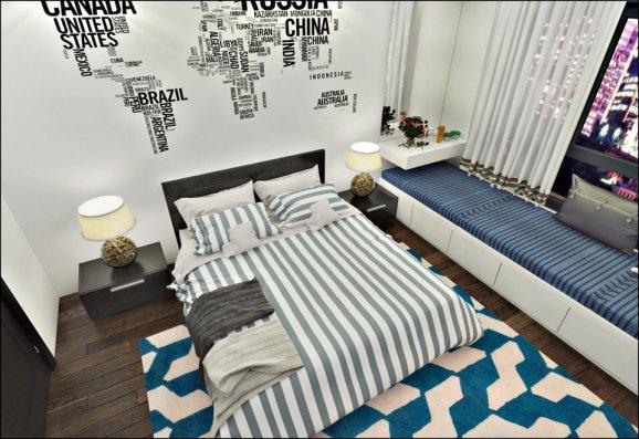thiết kế nội thất chung cư ParkHill theo phong cách Scandinavian phòng ngủ