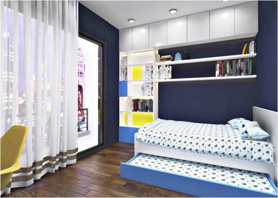thiết kế nội thất chung cư ParkHill theo phong cách Scandinavian phòng ngủ nhỏ
