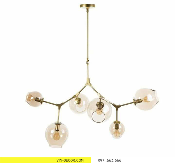 đèn thả trần trang trí phòng khách chung cư