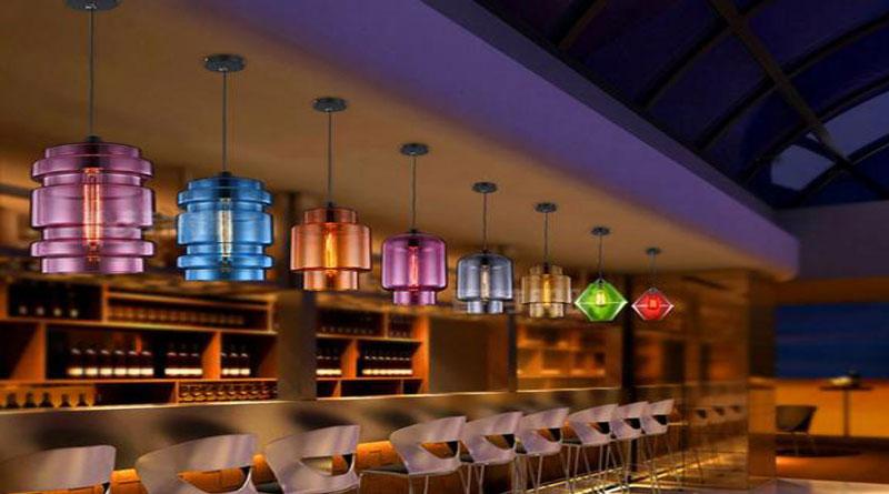 đèn thả trang trí quầy bar đẹp