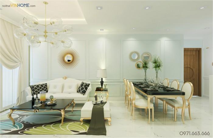 thiết kế nội thất ParkHill phòng khách chính