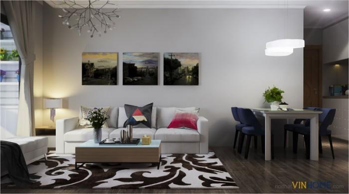 thi công hoàn thiện nội thất căn hộ Parkhill căn 2 phòng ngủ