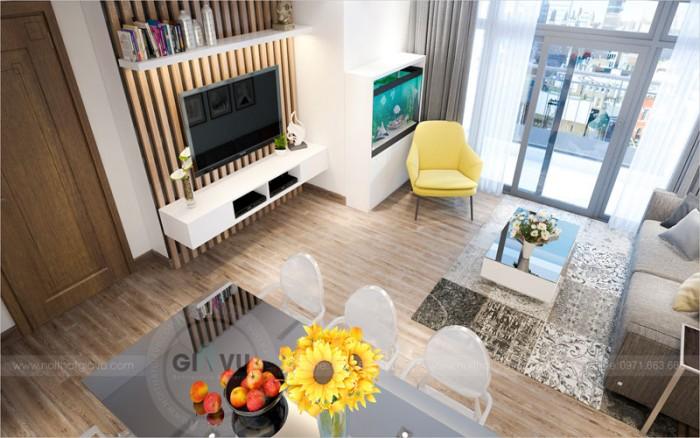 thi công hoàn thiện nội thất chung cư Parkhill căn 3 phòng ngủ