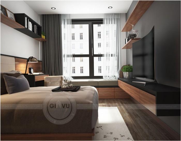 thiết kế nội thất Parkhill phòng ngủ chính