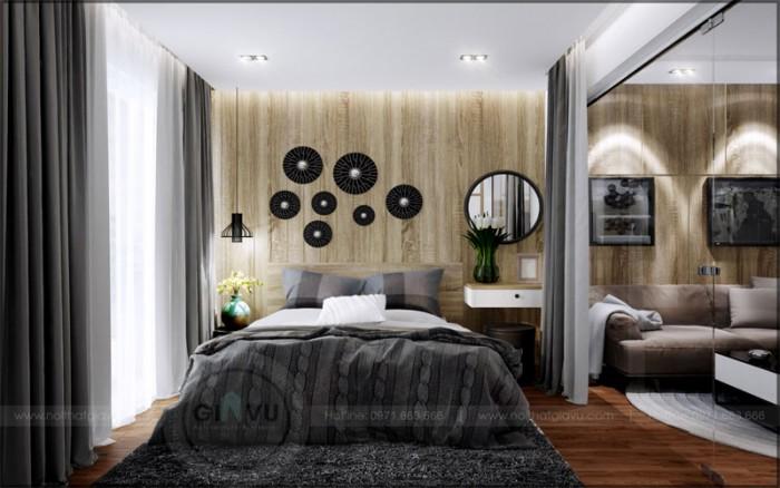 thiết kế nội thất căn hộ Parkhill phòng ngủ