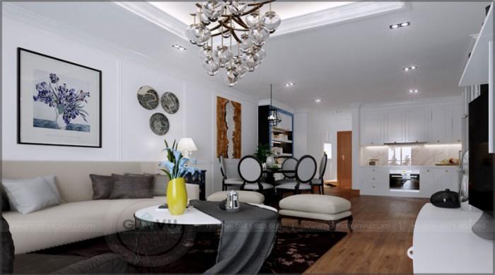 thiết kế nội thất chung cư phòng khách01