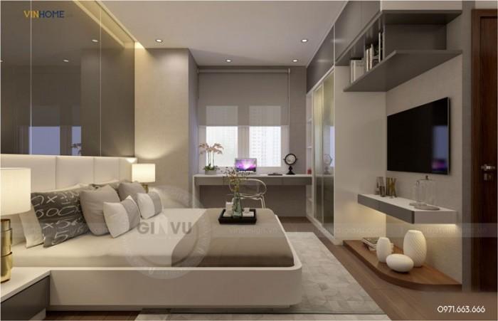 nội thất căn hộ Park hill phòng ngủ master