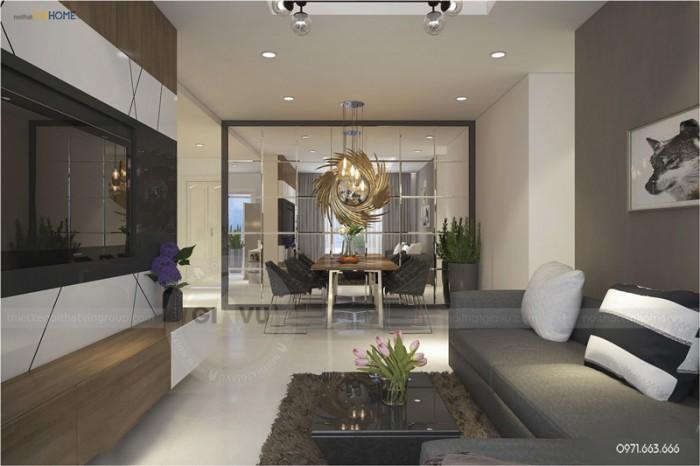 thiết kế nội thất căn hộ Park hill phòng khách