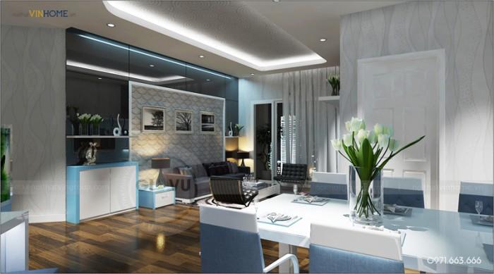 thiết kế nội thất chung cư Park hill phòng khách