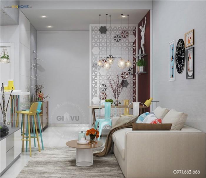 tư vấn và thiết kế nội thất căn hộ Park hill phòng khách