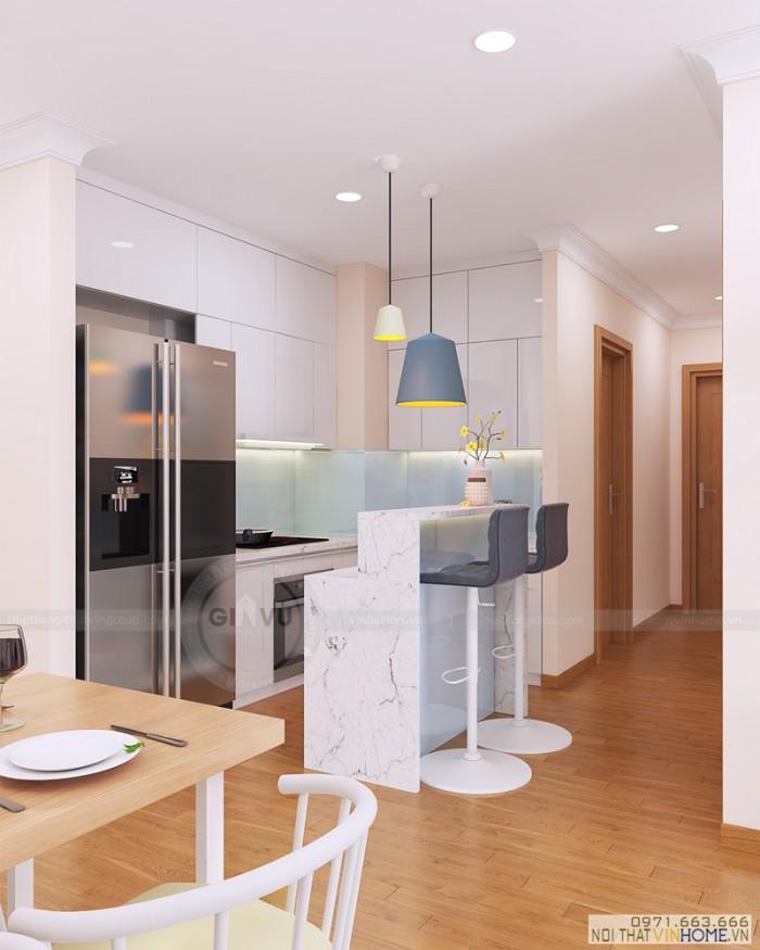 hoàn thiện nội thất căn hộ khu bếp