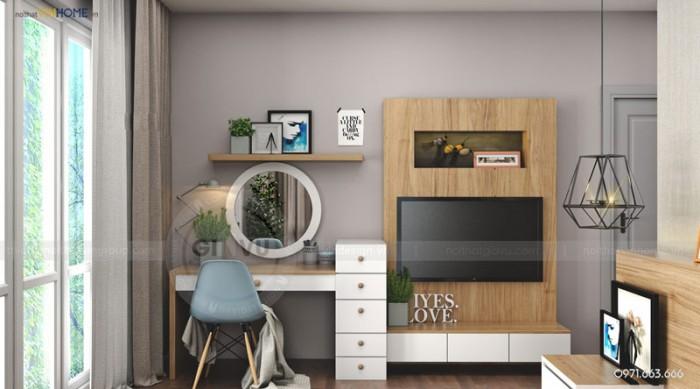 nội thất căn hộ Park1 phòng ngủ chính