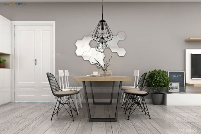 nội thất căn hộ bàn ăn