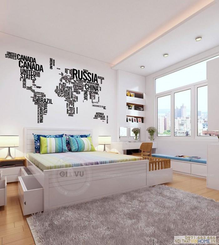 nội thất căn hộ phòng ngủ bé