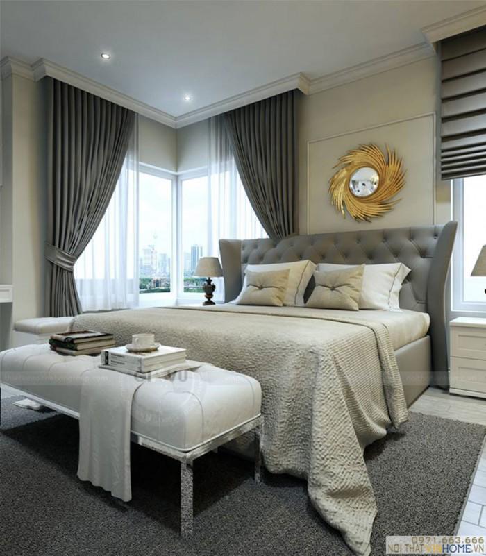 nội thất chung cư Park7 phòng ngủ master
