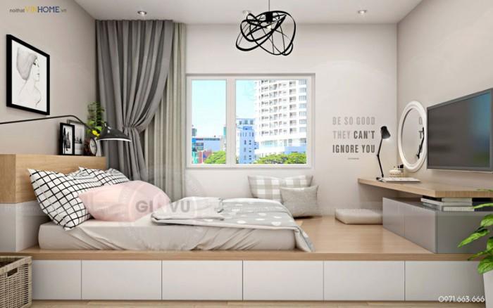 thiết kế nội thất Park hill phòng ngủ chính