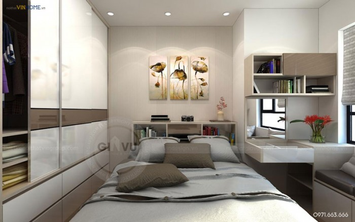 thiết kế nội thất căn hộ Park hill phòng ngủ đẹp