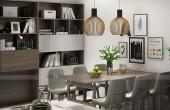 thiết kế nội thất căn hộ khu bàn ăn
