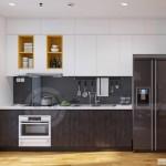 thiết kế nội thất căn hộ khu bếp ăn