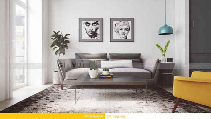 thiết kế nội thất phòng khách Park hill 02