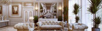 thiết kế nội thất phòng khách chung cư phong cách cổ điển 10