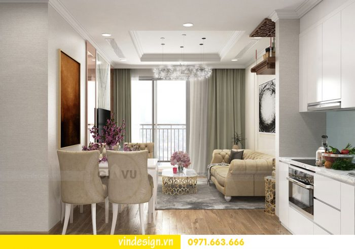 Thiết kế nội thất hiện đại chung cư Vinhomes Metropolis Liễu Giai 01