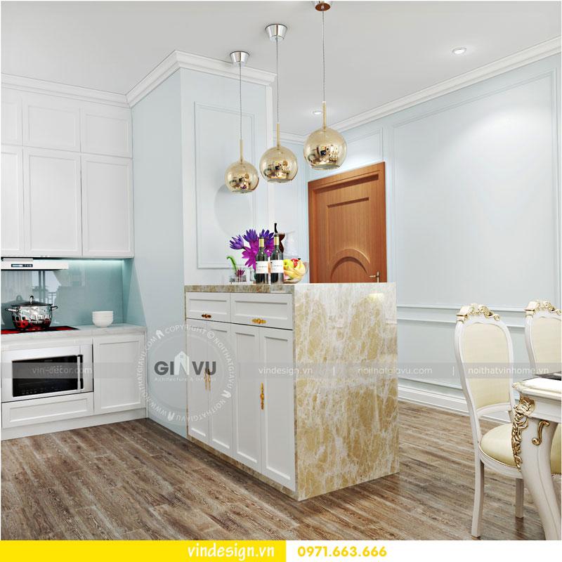 Phương án thiết kế nội thất căn hộ 2 phòng ngủ vinhomes D'Capitale 04