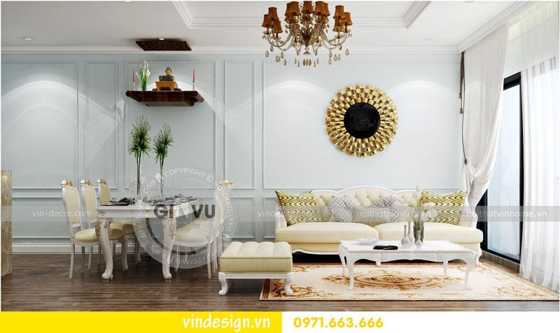 Phương án thiết kế nội thất căn hộ 2 phòng ngủ vinhomes D'Capitale 02