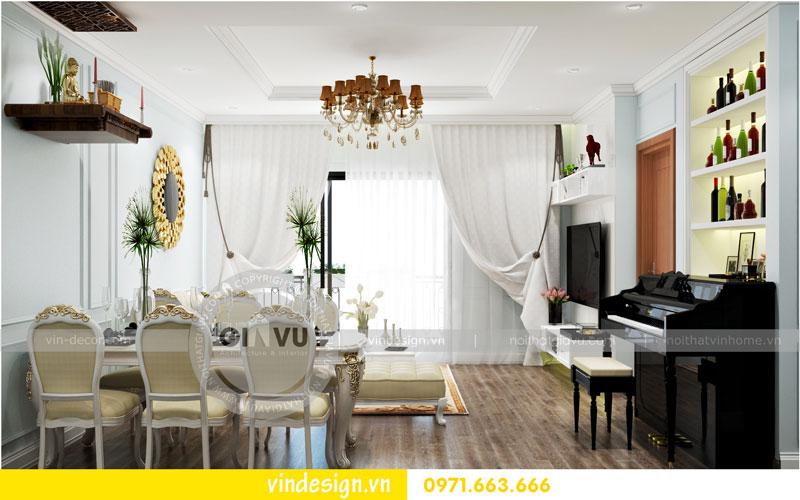 Phương án thiết kế nội thất căn hộ 2 phòng ngủ vinhomes D'Capitale 01