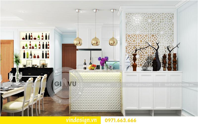 Phương án thiết kế nội thất căn hộ 2 phòng ngủ vinhomes D'Capitale 05