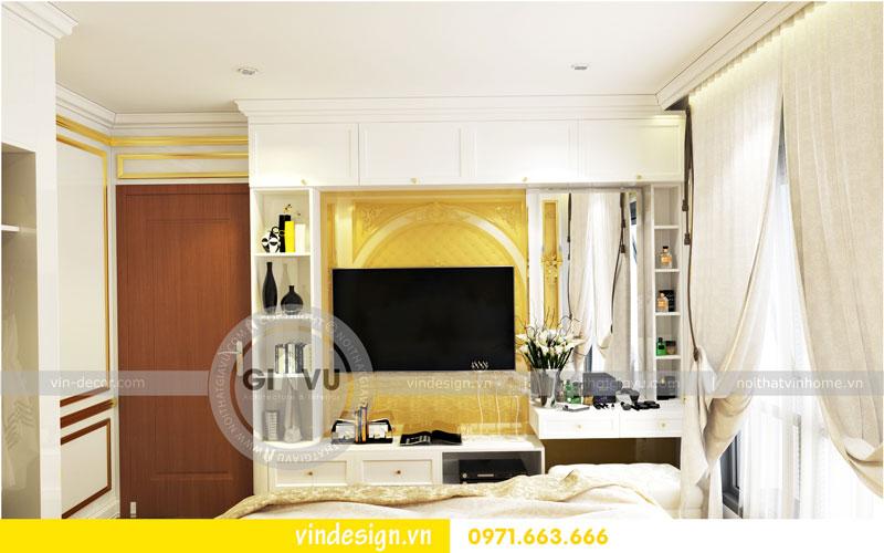 Phương án thiết kế nội thất căn hộ 2 phòng ngủ vinhomes D'Capitale 07