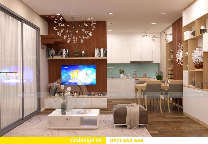 thiết kế nội thất chung cư 1 phòng ngủ đẹp tại vinhomes D Capitale 02
