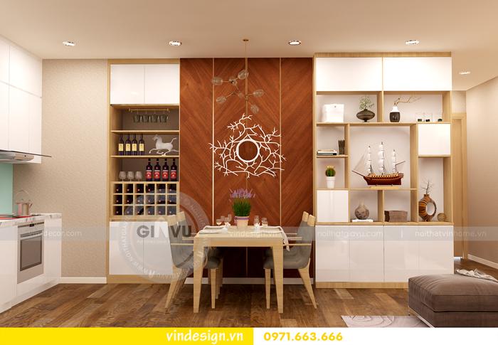 thiết kế nội thất chung cư 1 phòng ngủ đẹp tại vinhomes D Capitale 03