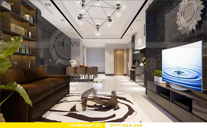 các mẫu thiết kế phòng khách đẹp tại vinhomes d capitale 04