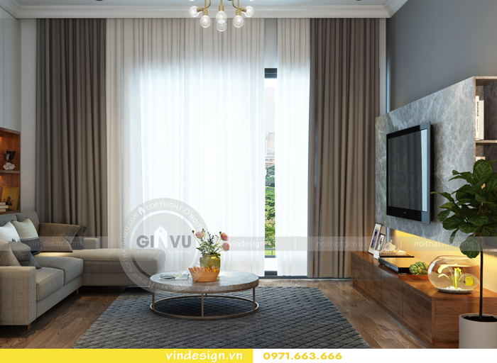 các mẫu thiết kế phòng khách đẹp tại vinhomes d capitale 17