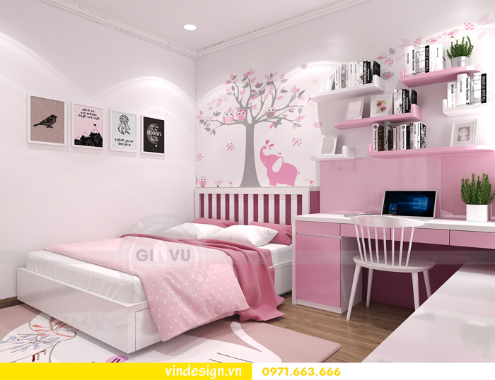 các mẫu thiết kế phòng ngủ trẻ em tại vinhomes d capitale 02