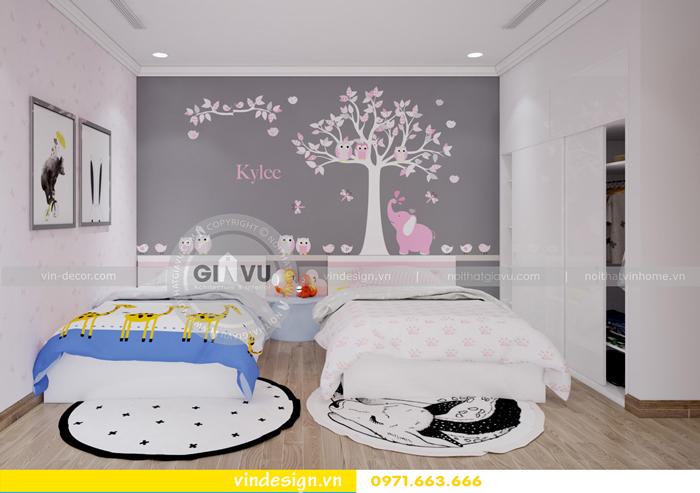 các mẫu thiết kế phòng ngủ trẻ em tại vinhomes d capitale 07