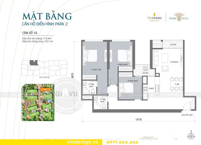 hoàn thiện nội thất chung cư park hill 2 căn 16 0