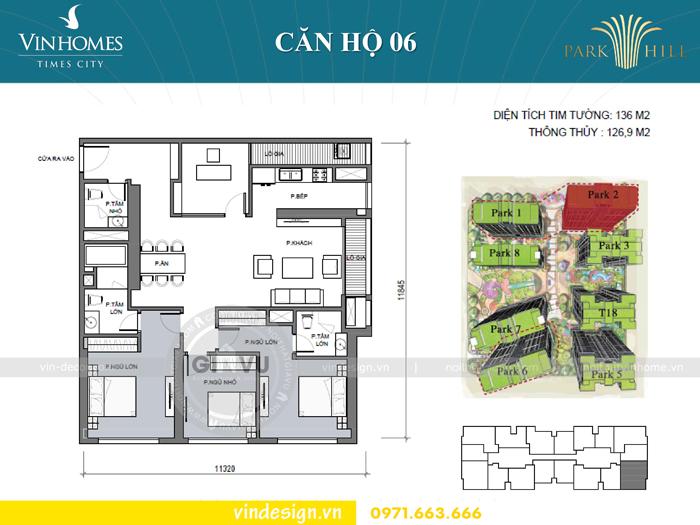 hoàn thiện nội thất chung cư Park Hill 3 căn 06 01