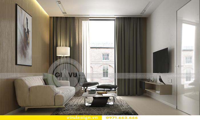 Phương án thiết kế nội thất căn 3 phòng ngủ vinhomes d capitale 01