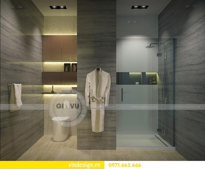Phương án thiết kế nội thất căn 3 phòng ngủ vinhomes d capitale 09