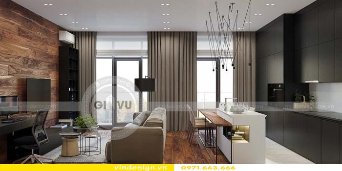 phương án thiết kế nội thất căn hộ 1 phòng ngủ vinhomes d capitale 06