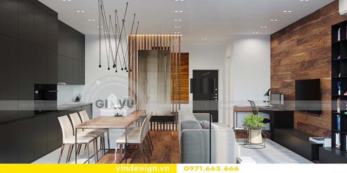 phương án thiết kế nội thất căn hộ 1 phòng ngủ vinhomes d capitale 08