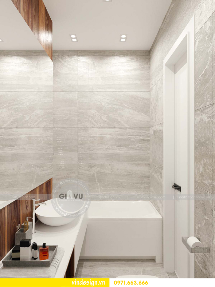 phương án thiết kế nội thất căn hộ 1 phòng ngủ vinhomes d capitale 21