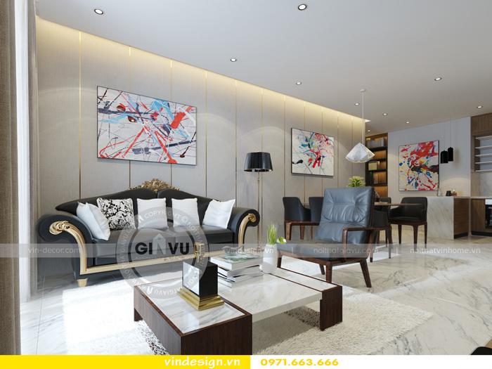 thiết kế căn hộ 3 phòng ngủ vinhomes D Capitale 01