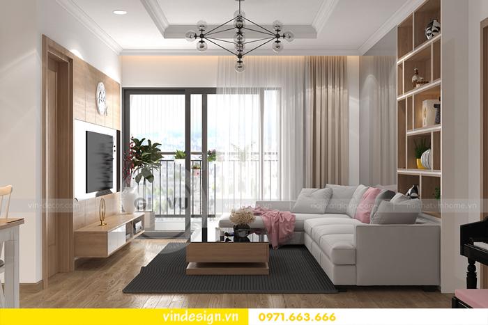 thiết kế nội thất căn hộ 2 phòng ngủ tại vinhomes d capitale 01